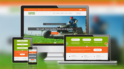 liamas lawn care website