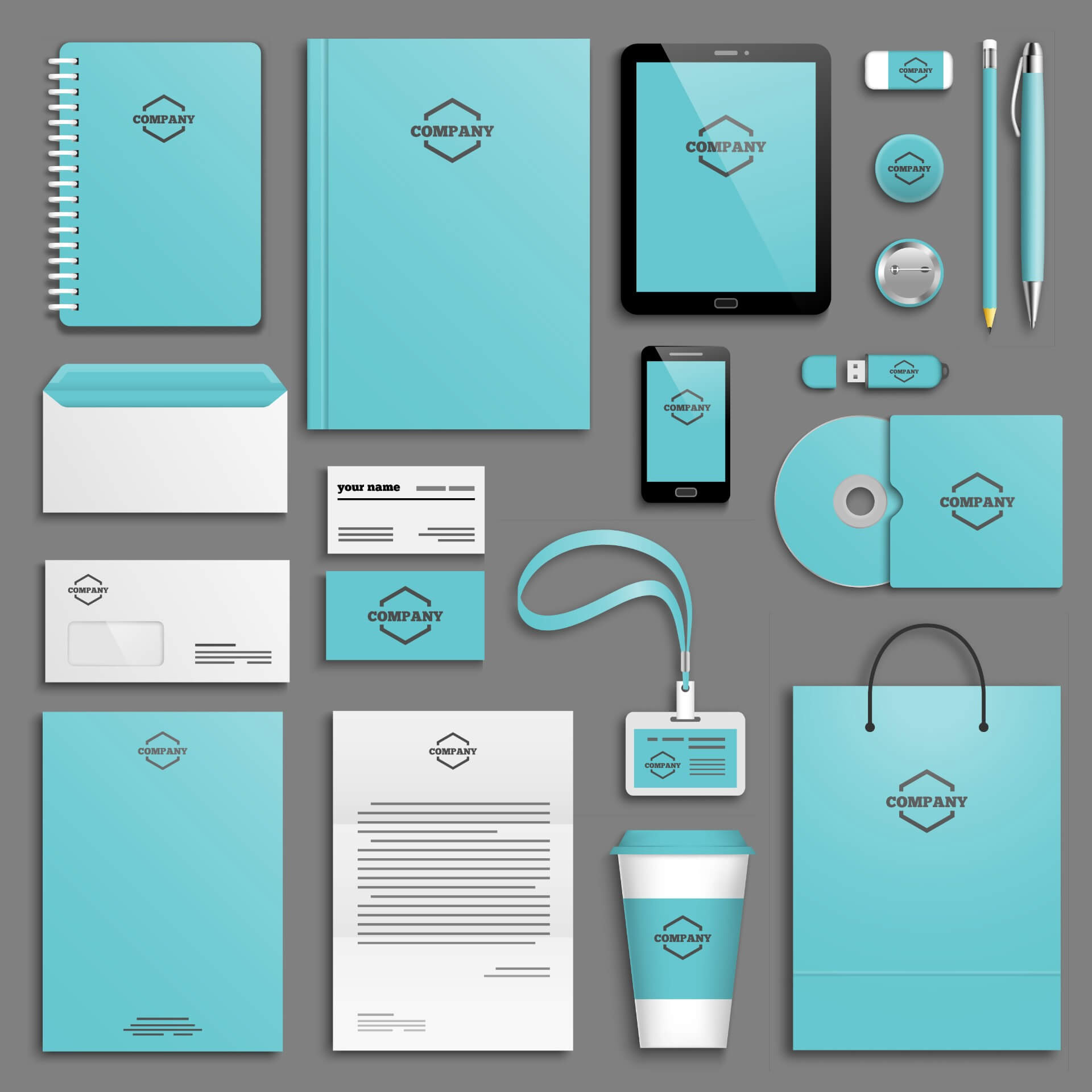 A corporate young identity template set