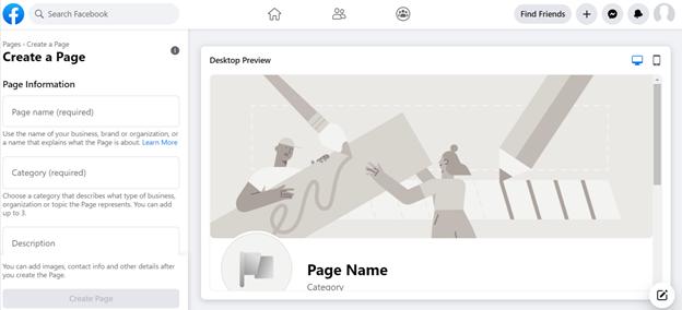 Facebook Business Page Registration