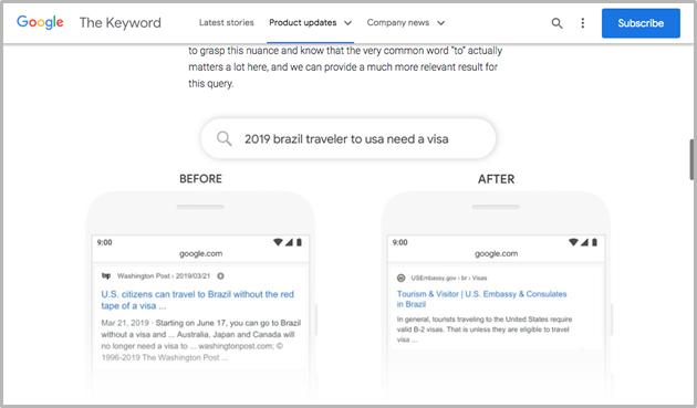 Google BERT's blog page screenshot