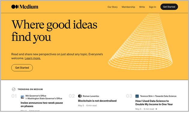 Medium.com screenshot