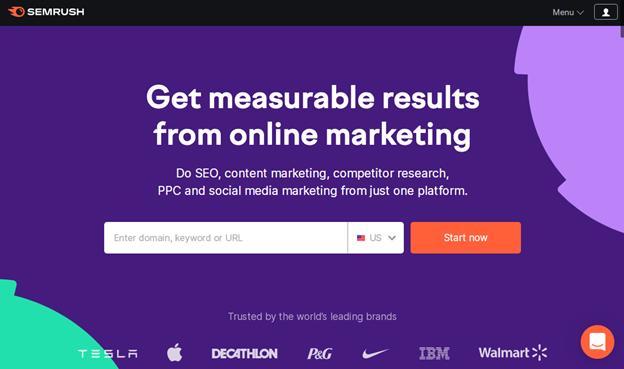 SEMrush.com screenshot