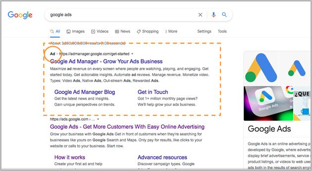 google ads screenshot