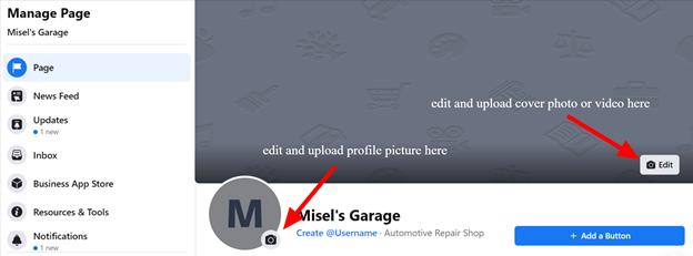 Setting up Profile Image