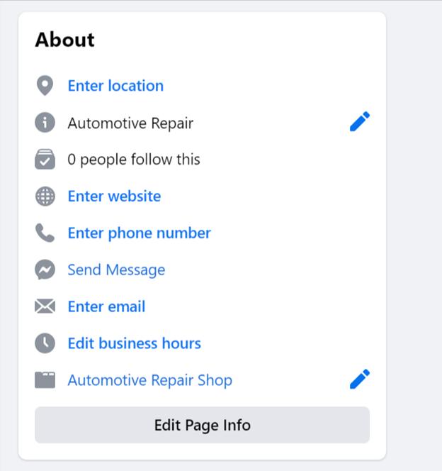 Adding Additional Business Information