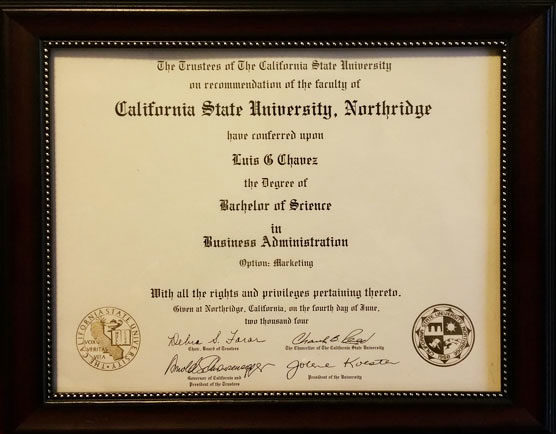 Luis Chavez Bachelor's Degree