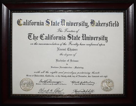 Noemi Chavez Diploma