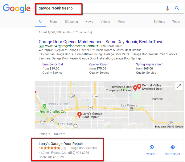 Local SEO Results Graphic