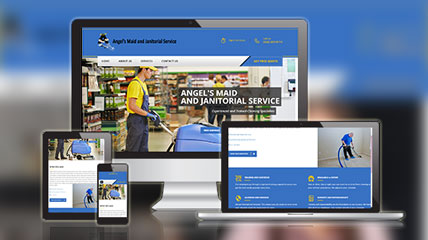 angles maid and janitorial service website