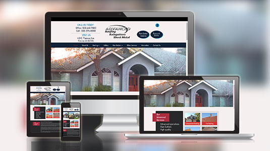 advanced roofing website