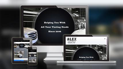 alex window tint website