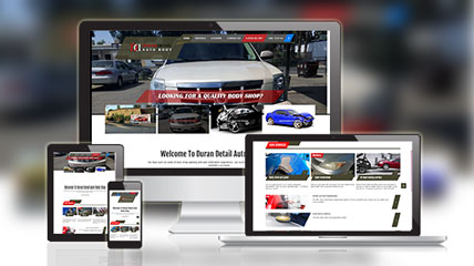 Auto Body Shop Website