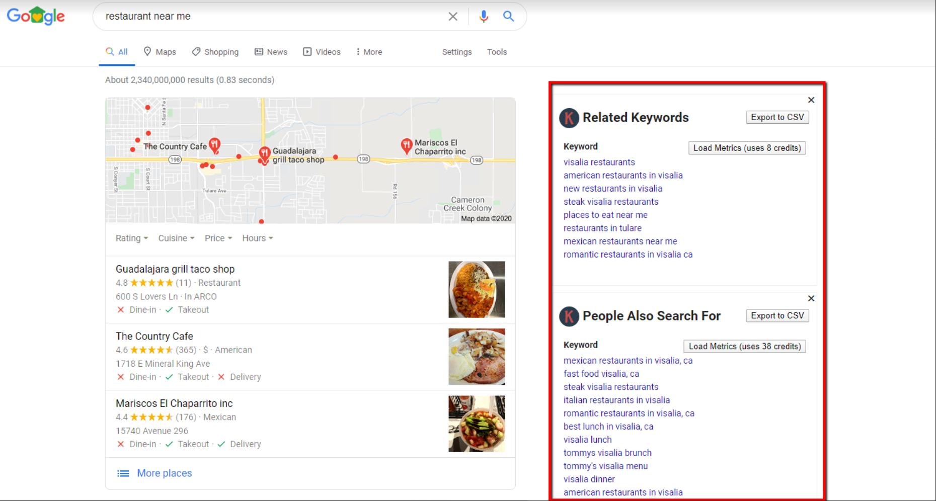 Google chrome Keyword everywhere extension