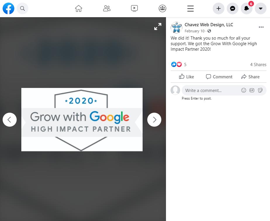 Calendario de redes sociales Ejemplo de agradecimiento de socio de alto impacto de Google